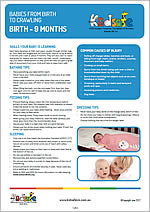 Birth – 9 Months Fact Sheets